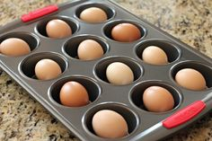Wow, great idea! - How to Hard Boil Eggs in the Oven from One Hundred Dollars A Month