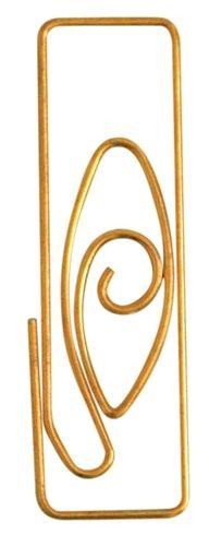 Gold Design Paper clips - attach rsvp to invitation