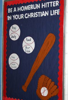 Be a homerun hitter in your christian life...sport theme