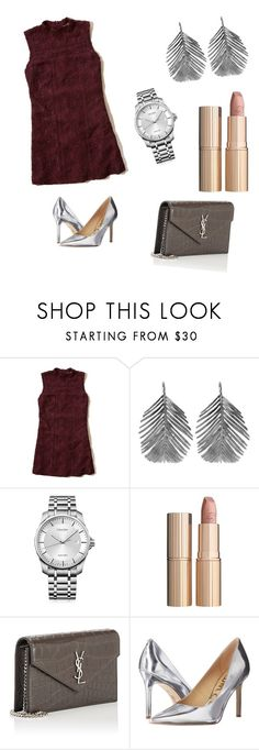 """Perfect cocktail Look"" by hanakalesic ❤ liked on Polyvore featuring Hollister Co., Alex Monroe, Calvin Klein, Charlotte Tilbury, Yves Saint Laurent and Sam Edelman"