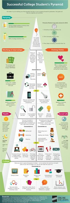 successful college student pyramid #successful #college #Student #Pyramid #Education #Infographics