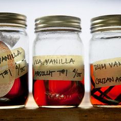 Making your own vanilla extract is inexpensive and easy. How-to from Chow, found at www.edamam.com