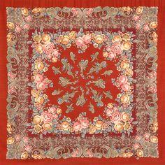 Павлопосадские платки : Сказка на ночь 1573-5, павлопосадский платок шерстяной с шелковой бахромой