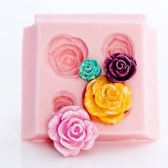 Rose Flexible Silicone Mold makes four beautiful by MoldMeShapeMe, $7.00