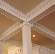 Looking for coffered ceiling design ideas and photos? Access the largest collection of coffered ceiling from top interior designers. Crown Molding, Decor, Moldings And Trim, Ceiling Detail, Coffered Ceiling, Interior Paint Colors, Ceiling Decor, Ceiling Design, Living Room Paint