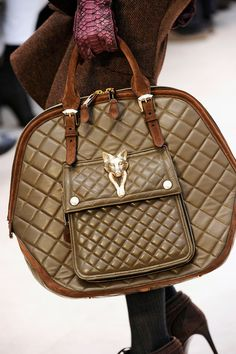 Burberry Prorsum Orchard in Brown Quilted Nappa leather with ornamental Fox