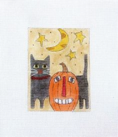 I have a large variety of handpainted needlepoint canvases for your stitching pleasures  :-) http://www.ebay.com/sch/Hand-Embroidery-Cloth-Canvas/183195/m.html?_nkw=&_armrs=1&_ipg=&_from=&_ssn=marsyemark24