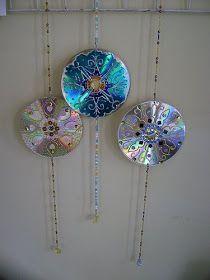 Borboleta Azul : Reciclando Cds e Dvds !!