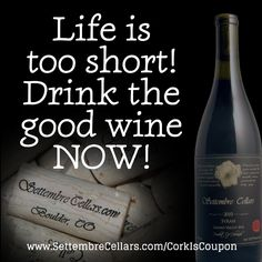 Perfect red wine pairing weather. Grab a Settembre Cellars bottle, pull the cork, and bring it in: during the month of May your cork is your coupon.