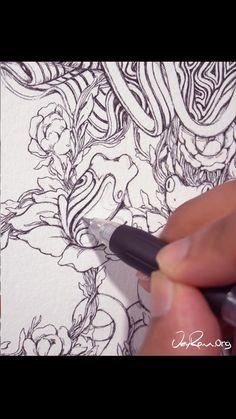 Ink Drawing - Spirit of Capricorn