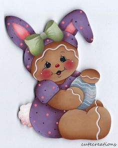 HP GINGERBREAD Bunny FRIDGE MAGNET