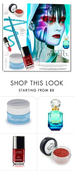 """Into the blue"" by fl4u ❤ liked on Polyvore featuring beauty, Barry M, Lancer Dermatology, beautytrends, beautyroutine and 2016trends"