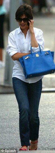 blue bag outfit
