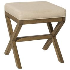 Complete your vanity with Hillsdale Somerset Vanity Stool. This stylish stool features a polyester cushion with a foam fill for additional comfort. This backless vanity stool features cross-hatched legs which adds a simple yet stylish touch. Bathroom Vanity Stool, Vanity Seat, Wood Vanity, Master Bathroom, Bathroom Storage, Small Bathroom, Bathrooms, Main Image, Hillsdale Furniture