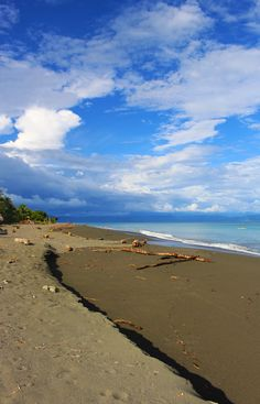 Playa Platanares, a fairly empty beach in the Osa Peninsula, Costa Rica. One of the best beaches in the country