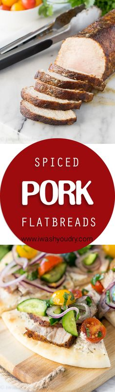 Spiced Pork Tenderloin Flatbreads are a super quick and flavorful appetizer, lunch or even dinner recipe that everyone will love!