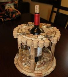 Master Crafted DIY Wooden Liquor and Glass Holder as Christmas Gift