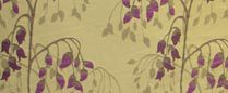 Willow, Dewberry - Curtain Fabric
