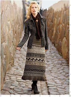 Теплые юбки (91 фото): длинные и миди, зимние и осенние модели, вязаные крючком…