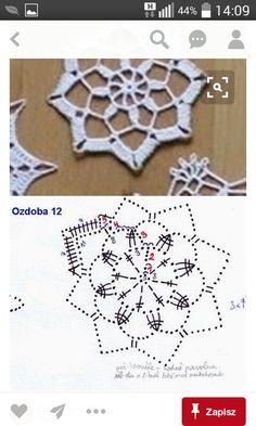 Best 12 Crochet snowflake with chart… – Page 804666658395032721 – SkillOfKing. Crochet Diagram, Crochet Motif, Crochet Designs, Crochet Doilies, Crochet Flowers, Knit Crochet, Crochet Patterns, Crochet Snowflake Pattern, Crochet Stars