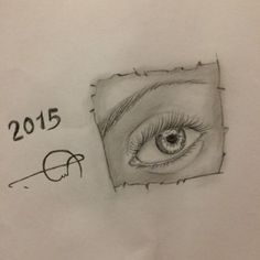 #2015 #Realistic #Eye #drawing by me.. :)  #art #Illustrations #hand_drawing