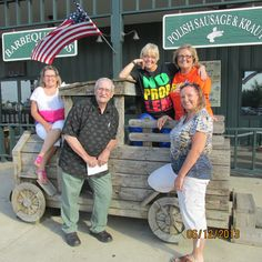 Lamberts Home of the Thrown rolls - Sikeston, MO. (Our dad and us four sisters Fathers Day 2013)