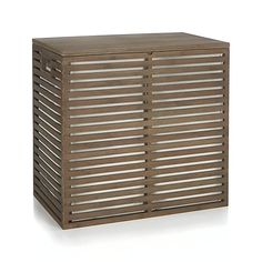 Dixon Large Bamboo Hamper with Liner | Crate and Barrel