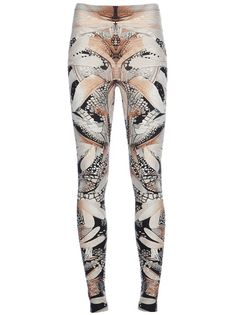 Dragonfly print leggings - bold mirror printed pattern fashion // Alexander McQueen