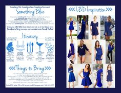 Bachelorette Party Invitation, Something Blue