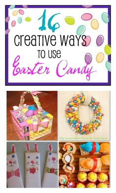 Got lots of extra Easter candy? Don't want the kids to eat it all? Check out these 16 creative uses for extra Easter candy at B-InspiredMama.com.