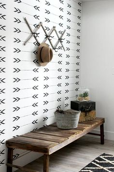modern farmhouse entry // @simplifiedbee