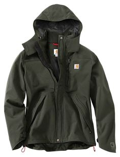 Carhartt Waterproof Breathable Shoreline Jackets For Men