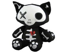 Emily the Strange — Miles Skele Kitty Plush