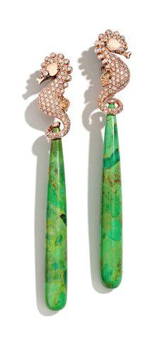 Massimo Izzo turquoise& diamond set in rose Gold Save By Antonella Rossi