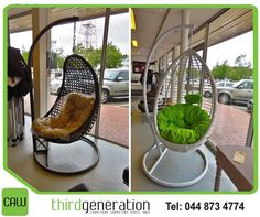 These gorgeous out of the ordinary hanging egg chairs will make the ultimate statement in-or outside your home.