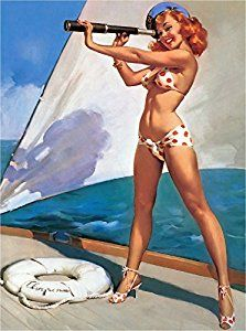 Amazon.com: 1940s Pin-Up Girl Ship Ahoy Boat Ocean Seashore Picture Poster Print Art Pin Up. Poster measures 10 x 13.5 inches: Posters & Prints