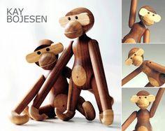 El famoso y simpático mono de madera | Estilo Escandinavo. Kay Bojesen