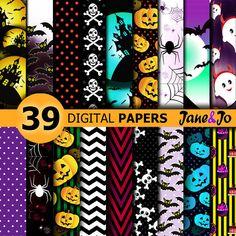 Halloween Digital Paper,Halloween papers,Halloween decor,Halloween Digital backgrounds,Halloween pattern Paper,Halloween Digital Paper Pack