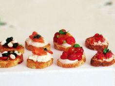 Dollhouse Miniature Food Bruschette Dollhouse by miniThaiss, $12.99