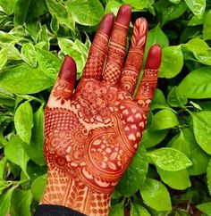 Image may contain: outdoor Simple Arabic Mehndi Designs, Mehndi Designs Book, Mehndi Design Pictures, Mehndi Designs For Girls, Mehndi Designs For Fingers, Mehndi Images, Henna Mehndi, Hand Henna, Mehndi Art