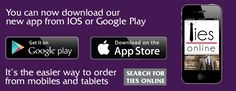For all your men's clothing accessories www.ties-online.com, if on a phone or tablet download our new App