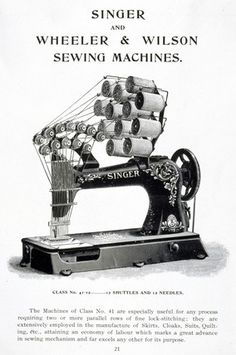 Singer industrial sewing machine, model Clas 41, c 1905. at Science and Society Picture Library