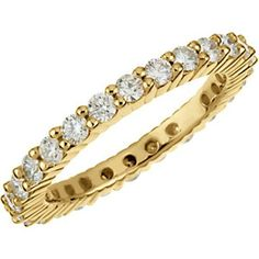 14K Yellow Gold Diamond Infinity Wedding Band - 1.10 Ct., Size 5 -- LIFETIME WARRANTY FREE PRIORITY SHIPPING. Most rings are available in White, Yellow or Rose, 10K, 14K, 18K or Platinum.. This item will be gift wrapped in a beautiful gift bag. In addition, a 'gift message' can be added..