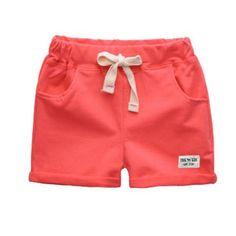 New Knee Elastic Waist Length Boys Cotton Short Pants Loose Fit