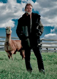 rob-anybody:  thewinterotter:  angelicbadass:  jeffreydeanmorgansource:    Jeffrey Dean Morgan for 'SHARP' Magazine - (2015)  Cuz nothing says 'badass' like a llama…???  EVERYTHING ABOUT THIS PHOTO IS AMAZING  Guys, JDM owns a working farm and this is his llama.   His llama's name is Wally. He also has alpacas named Tony and Stella, all living on his working farm in upstate New York.