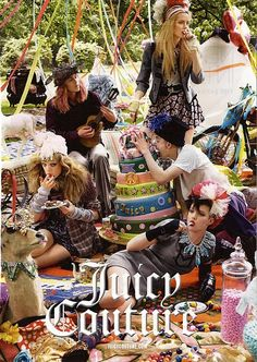 So as a teenager I was OBSESSED with juicy. I'm not going to lie I had the tracksuits in a variety of colors (oh and yes I did wear them as . Fashion Shoot, Fashion Beauty, Tea Party Attire, Hippie Style, My Style, High Fashion Photography, Wild Photography, Boho Gypsy, Juicy Couture