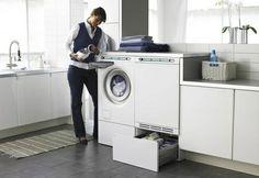 Asko - sokkelskuff Laundry Room Design, Washing Machine, Home Appliances, Mudroom, Pedestal, Interior, House Appliances, Domestic Appliances, Design Interiors