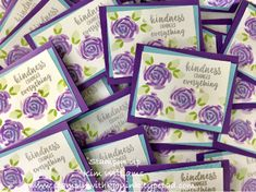 Stampin Up Abstract Impressions. Stampinwithkjoyink.typepad.com. Kim Williams. New Stampin Up Catalog 2018-2019. Quick and easy card idea in the new purples.