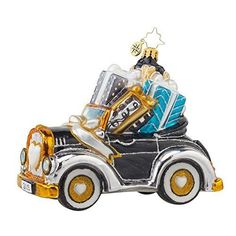 Christopher-Radko-Gift-on-the-Way-Wedding-Car-Christmas-Ornament-Just-Married