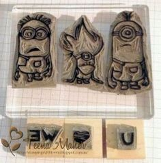 Minions Undefined Stamps carved by Teena Maher